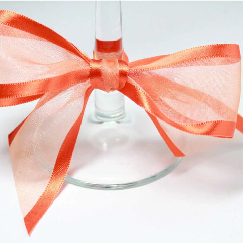Satin Edge Organza Ribbon | Dark orange