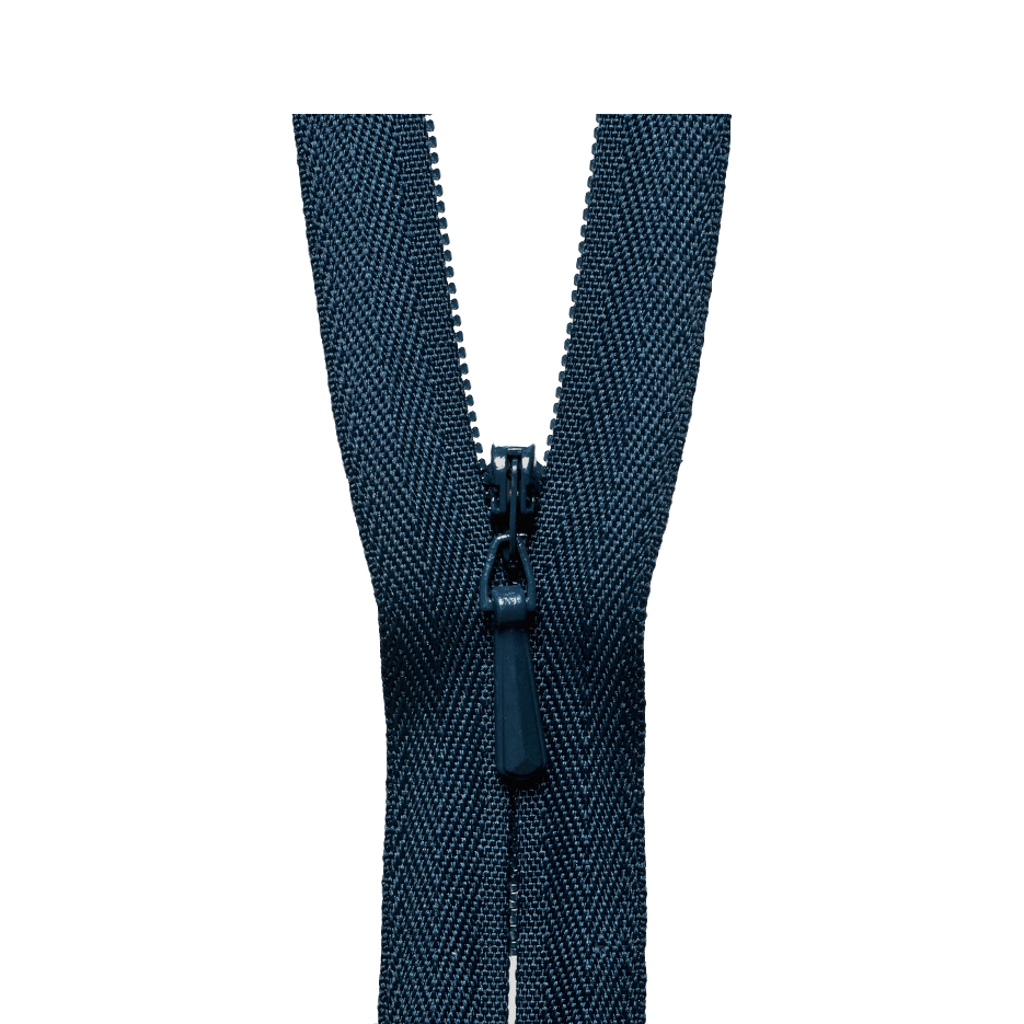 YKK concealed zip Navy colour