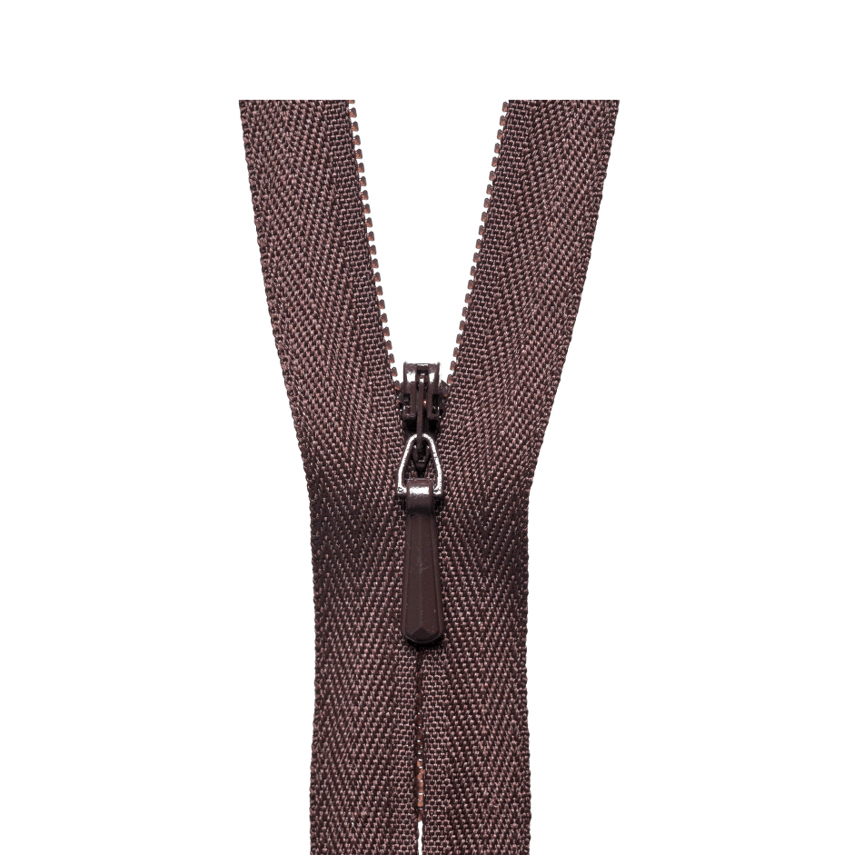 Brown concealed zips by YKK