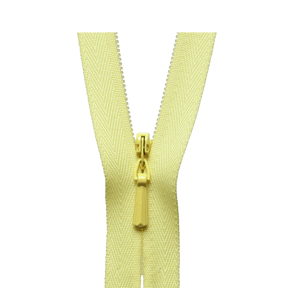 YKK Concealed Zip LEMON from Jaycotts Sewing Supplies