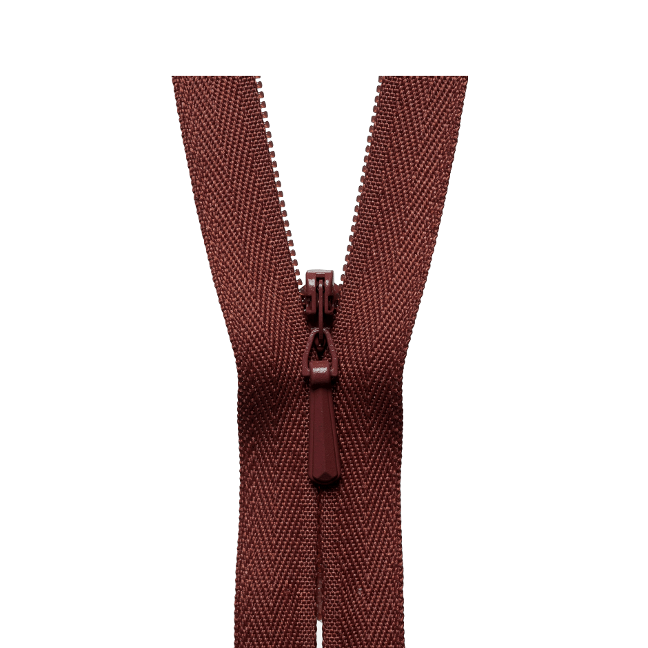 YKK Concealed Zip MID BROWN from Jaycotts Sewing Supplies