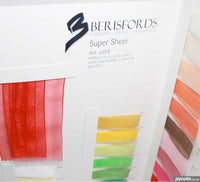 Berisfords Super Sheer Ribbon: Sample Card from Jaycotts Sewing Supplies