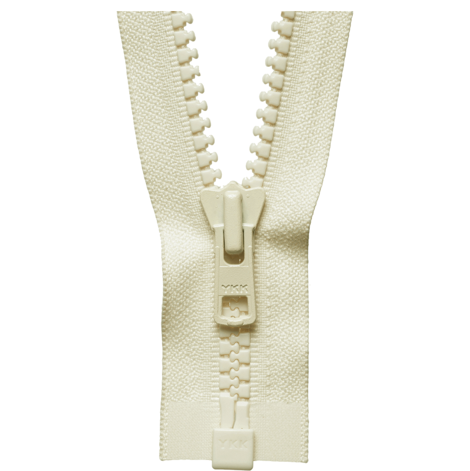 Chunky Zip Open End Zip | Ivory from Jaycotts Sewing Supplies