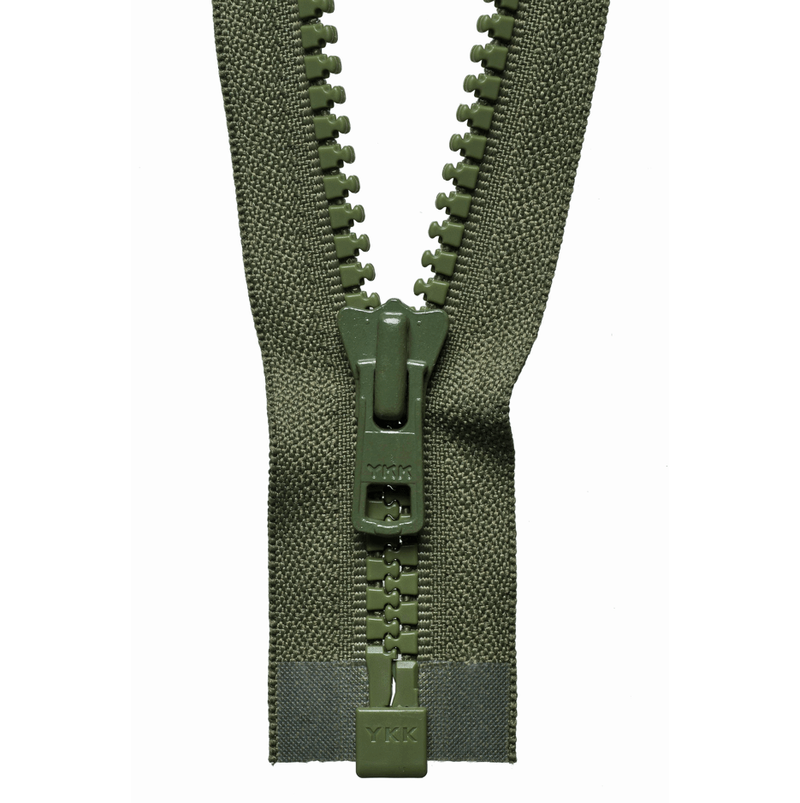 YKK Chunky Zip Open End Zip | Khaki from Jaycotts Sewing Supplies