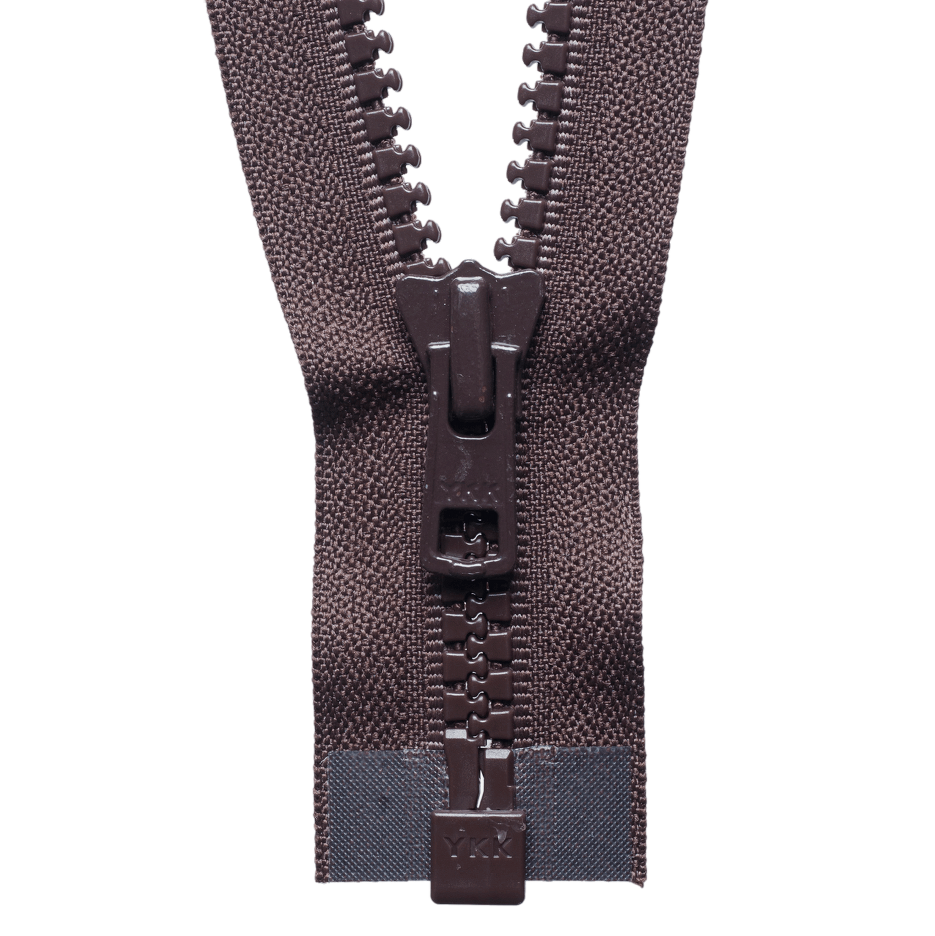 Chunky Zip Open End Zip | Brown from Jaycotts Sewing Supplies
