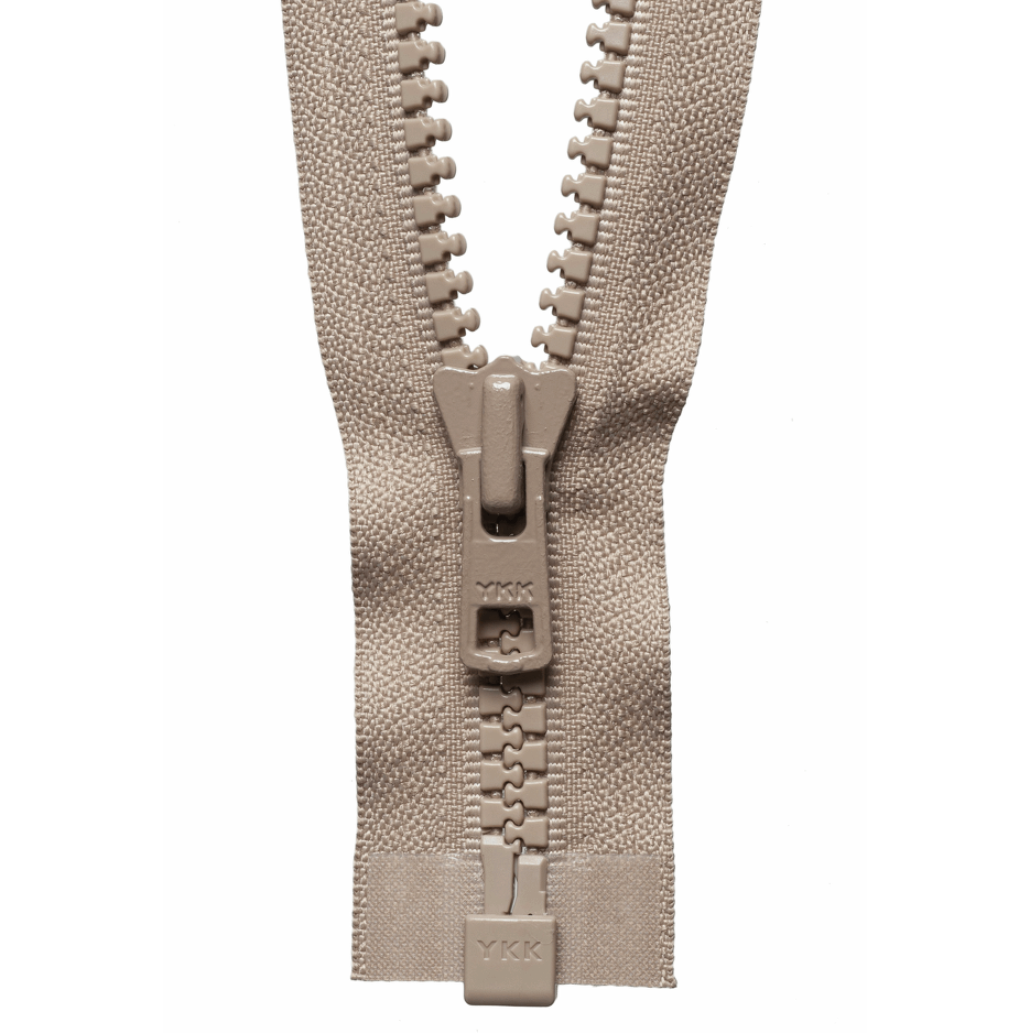 Chunky Zip Open End Zip | Beige from Jaycotts Sewing Supplies