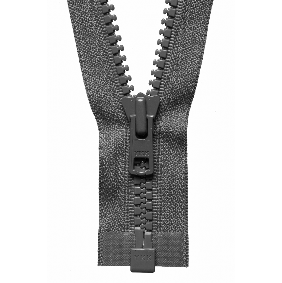 Chunky Zip Open End Zip | Mid Grey