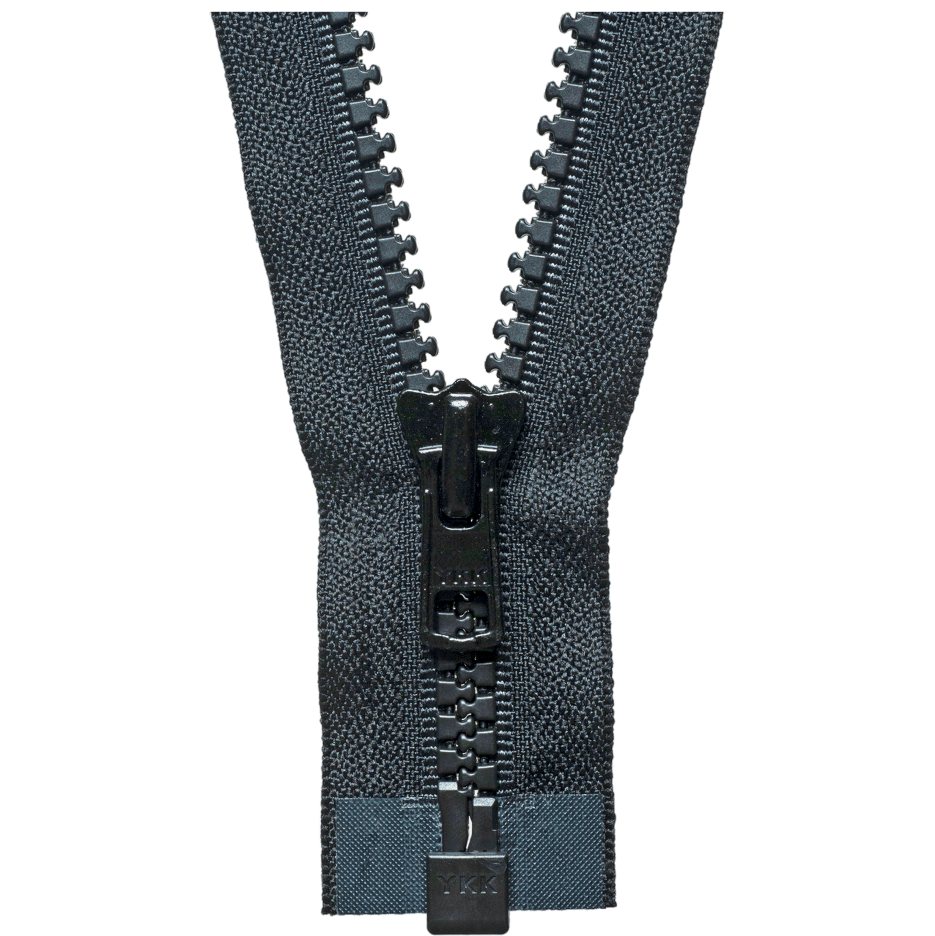 YKK Chunky Open End Zips - Black
