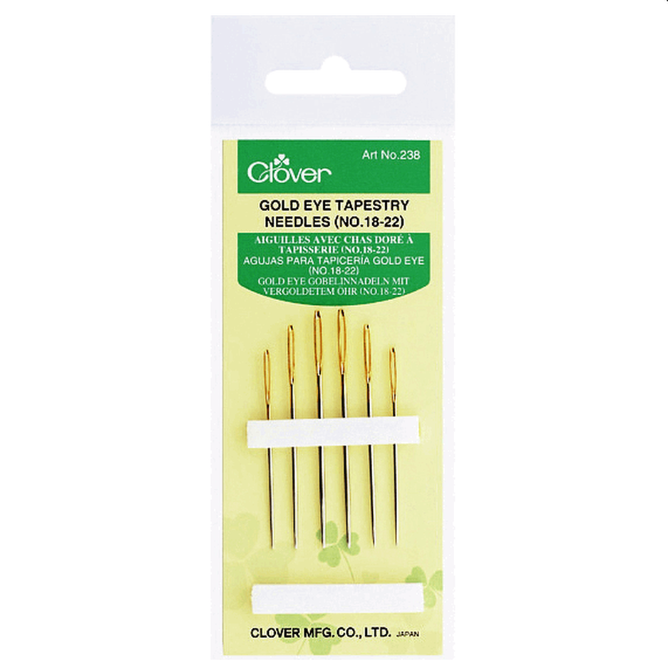 Clover Gold Eye Tapestry Needles