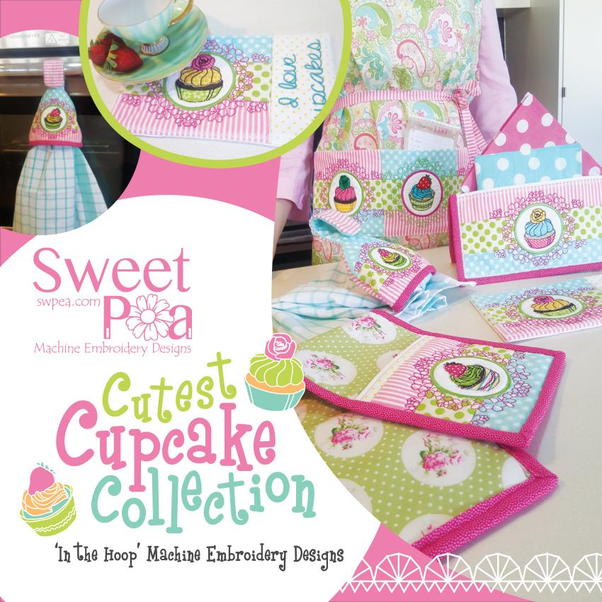 Sweet Pea Embroidery Designs CD | Cupcake Collection from Jaycotts Sewing Supplies