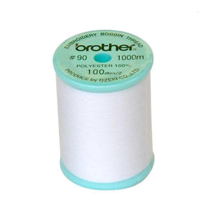Brother Bobbin Thread White / 1000m (Blue Top Reel)
