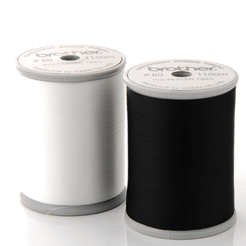 Brother Bobbin Thread 1100m (Grey Top Reel) from Jaycotts Sewing Supplies