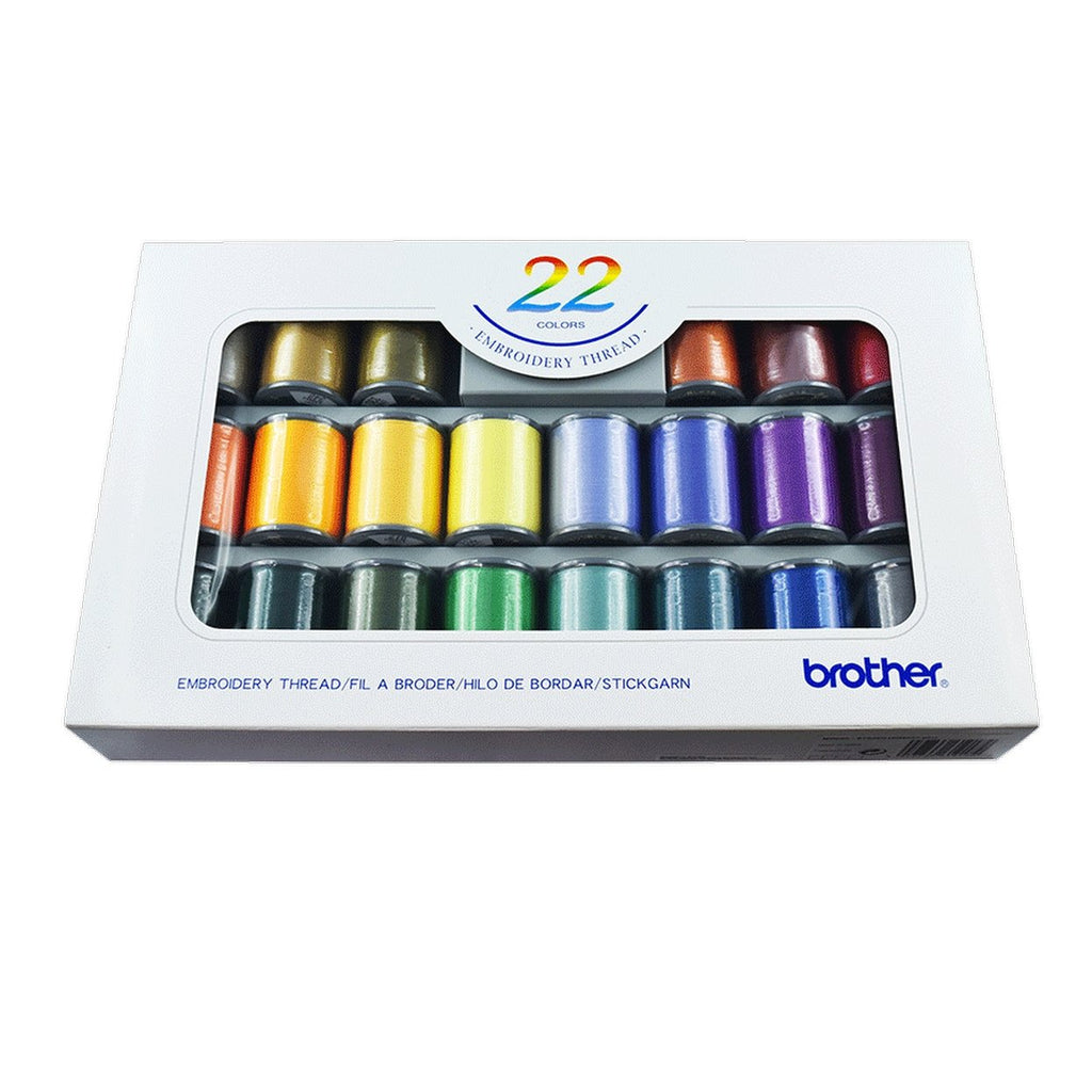 Brother Embroidery Thread Set - Box of 22 Reels - ETS22