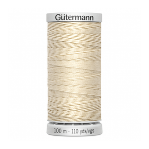 Gutermann Extra Strong Thread 100m | Ecru from Jaycotts Sewing Supplies