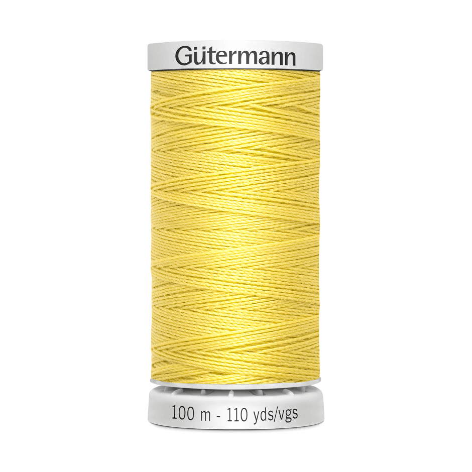 Gutermann Extra Strong Thread 100m | Pale Yellow from Jaycotts Sewing Supplies