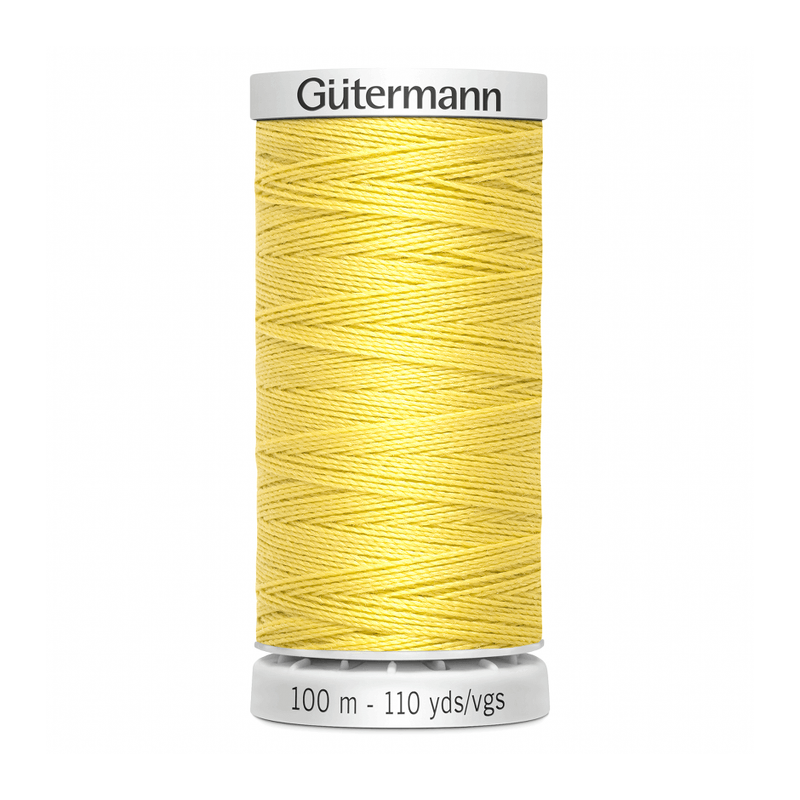 Gutermann Extra Strong Thread 100m | Pale Yellow