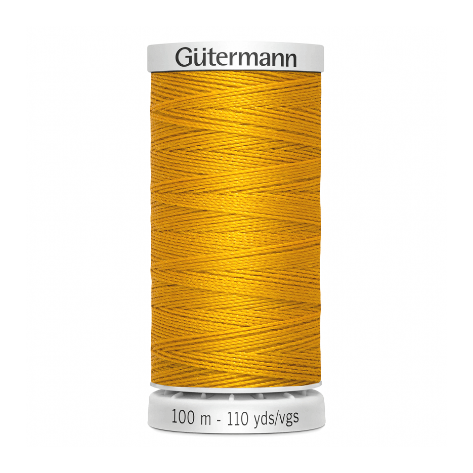 Gutermann Extra Strong Thread 100m | Bright Yellow from Jaycotts Sewing Supplies