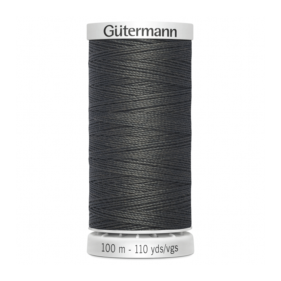 Gutermann Extra Strong Thread 100m | Dark Grey from Jaycotts Sewing Supplies