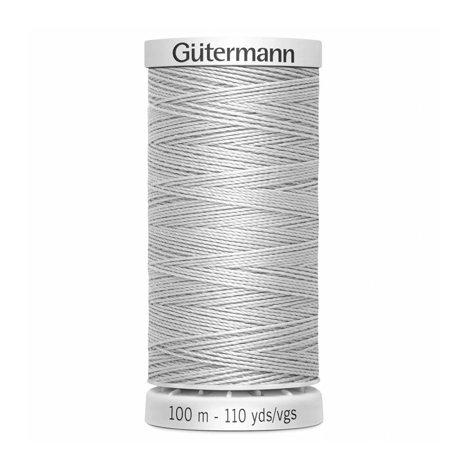 Gutermann Extra Strong Thread 100m | Silver from Jaycotts Sewing Supplies