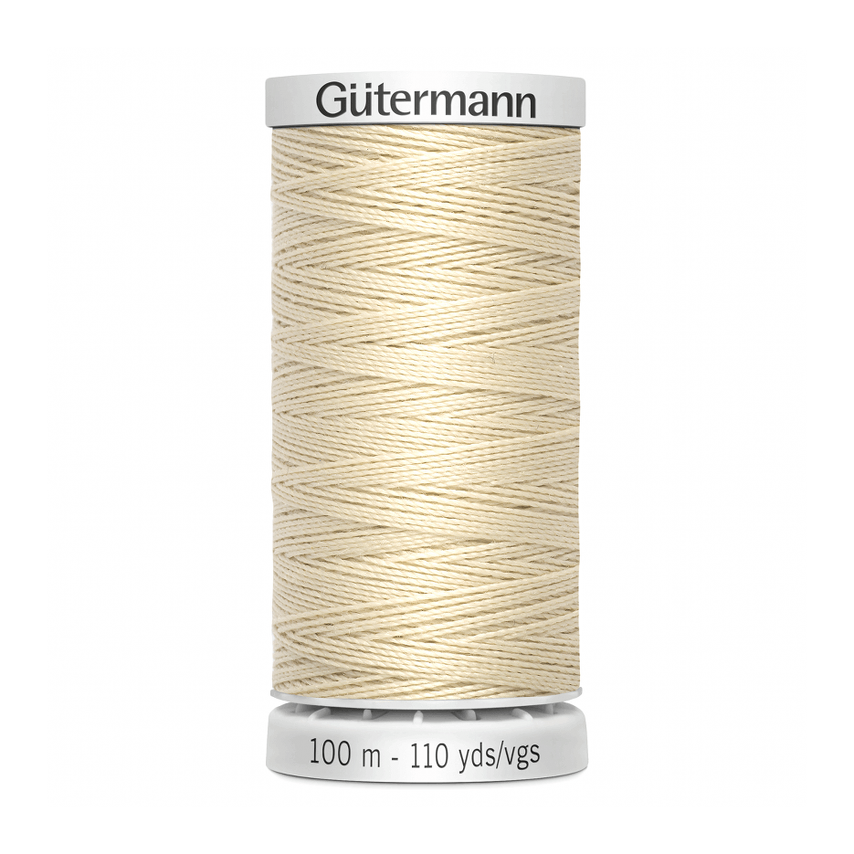 Gutermann Extra Strong Thread 100m | Cream from Jaycotts Sewing Supplies