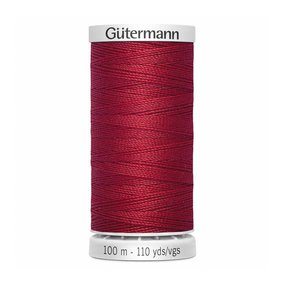 Gutermann Extra Strong Thread 100m | Cherry Red from Jaycotts Sewing Supplies