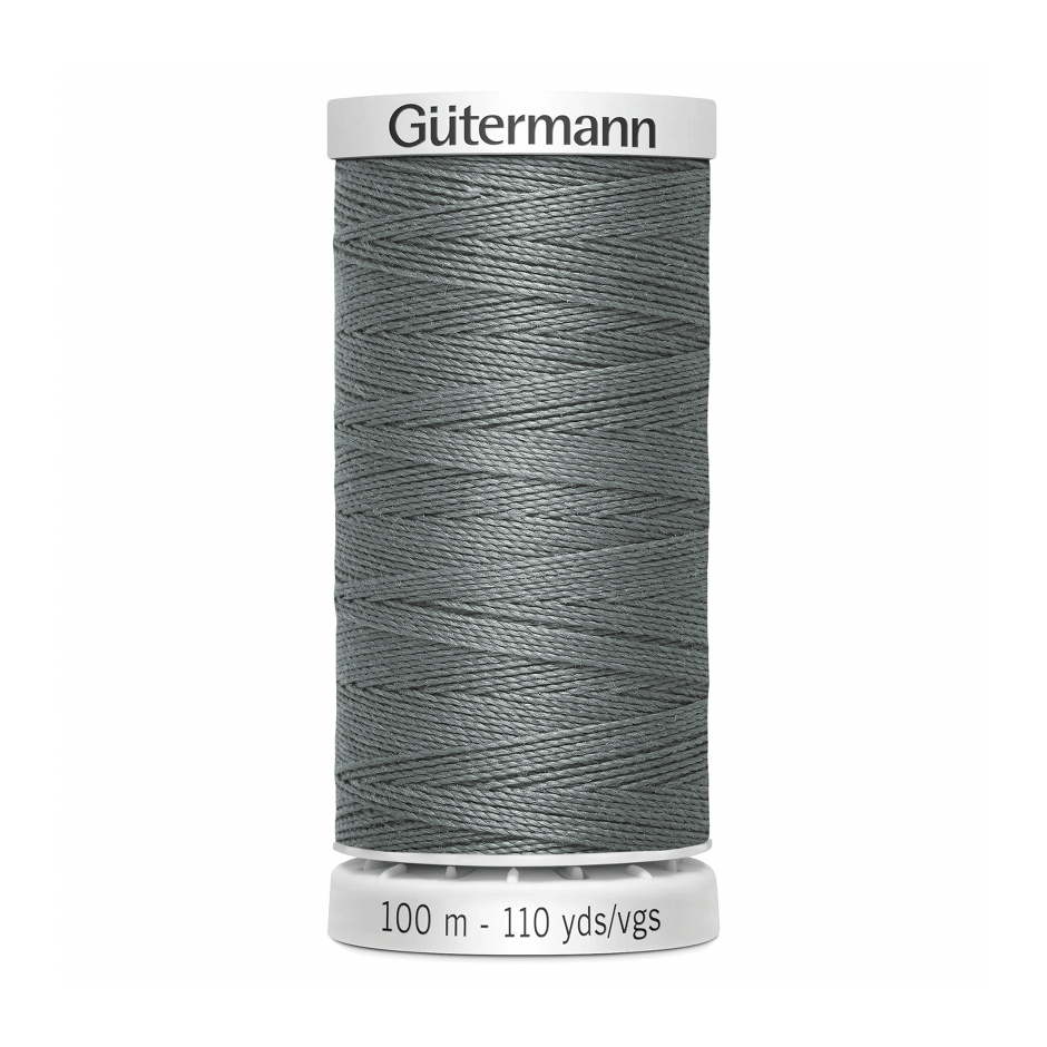 Gutermann Extra Strong Thread 100m | Mid Grey from Jaycotts Sewing Supplies