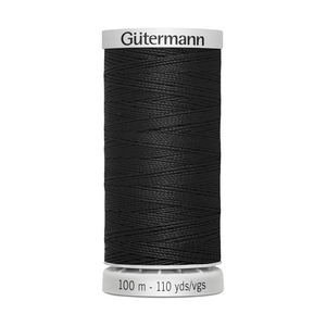 Gutermann Extra Strong Thread 100m | Black from Jaycotts Sewing Supplies