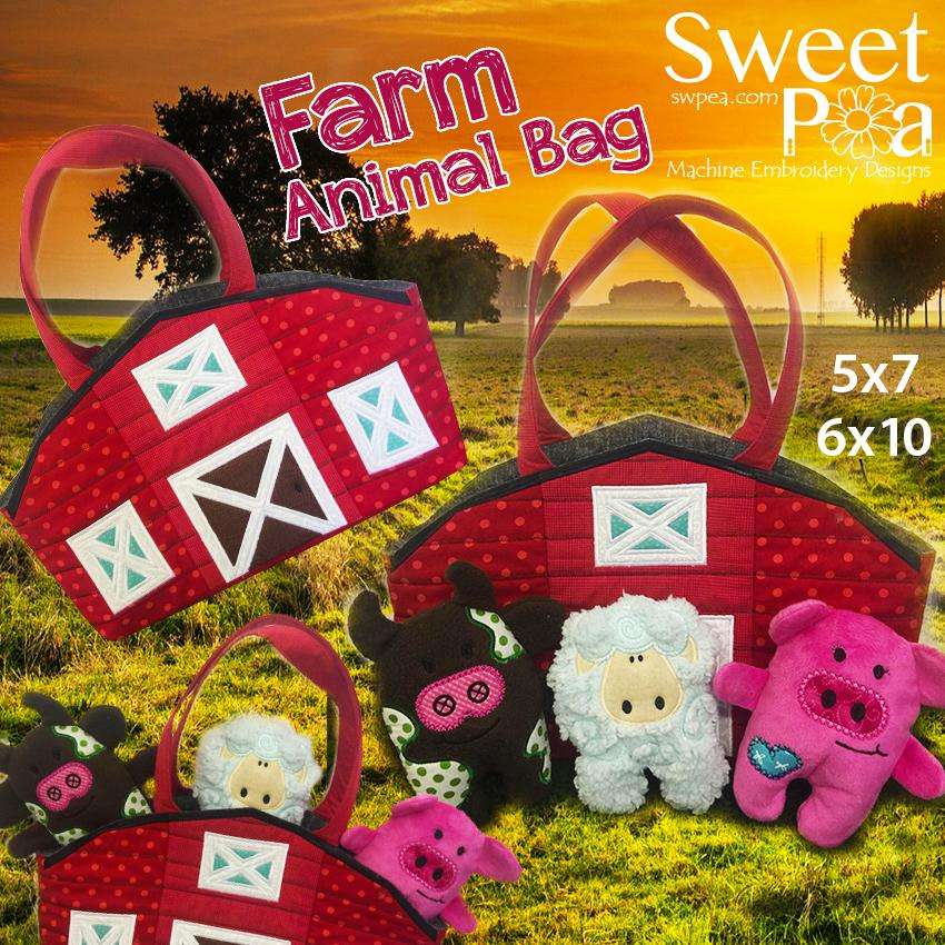 Sweet Pea Embroidery Designs CD | Farm Animal from Jaycotts Sewing Supplies