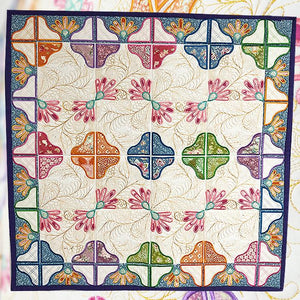 Sweet Pea Embroidery Designs CD | Floral Fantasy Quilt