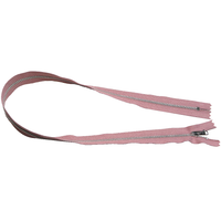 YKK silver tooth Metal Dress Zips - dusky pink from Jaycotts Sewing Supplies