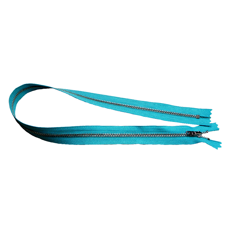 YKK silver tooth Metal Dress Zips - turquoise