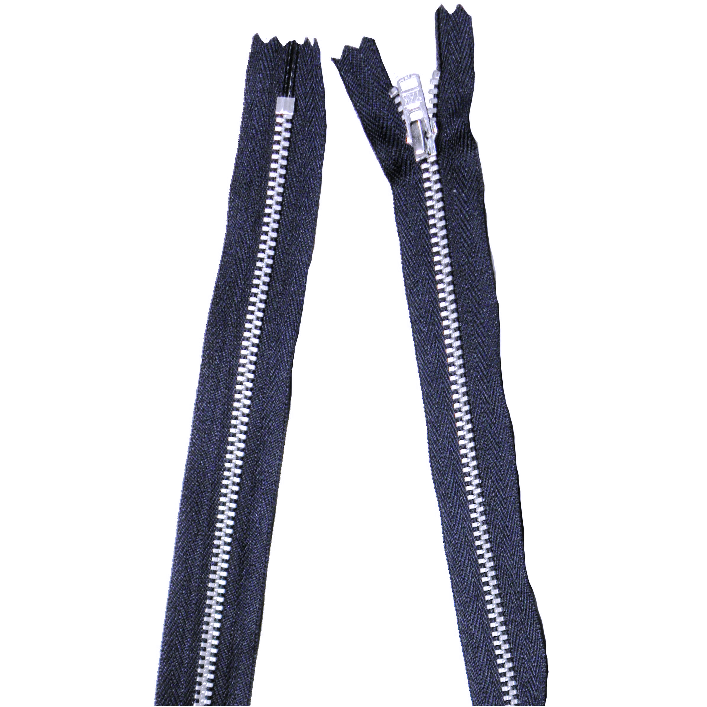YKK silver tooth Metal Dress Zips - Navy from Jaycotts Sewing Supplies