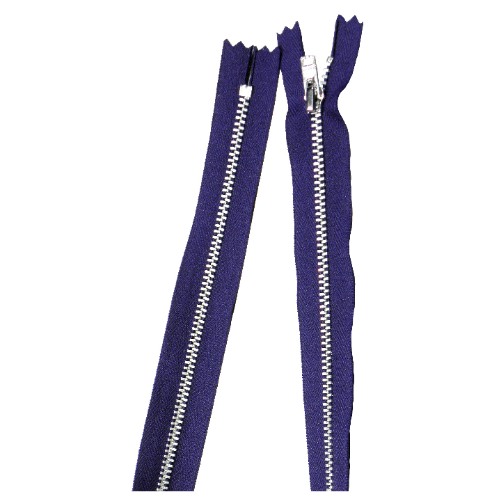 YKK silver tooth Metal Dress Zips - Purple from Jaycotts Sewing Supplies
