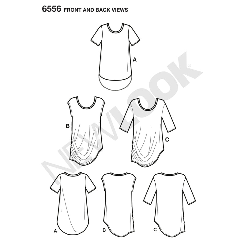 NL6556 Women's Easy Knit Tops Pattern