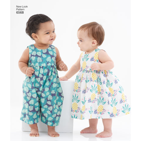 NL6568 Pattern for Babies' Dress and Romper