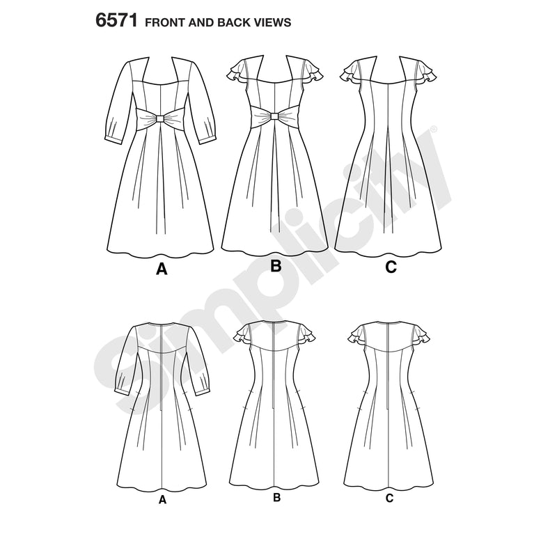 NL6571 Party Dresses sewing pattern