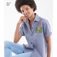 NL6561 Women's Shirts Pattern