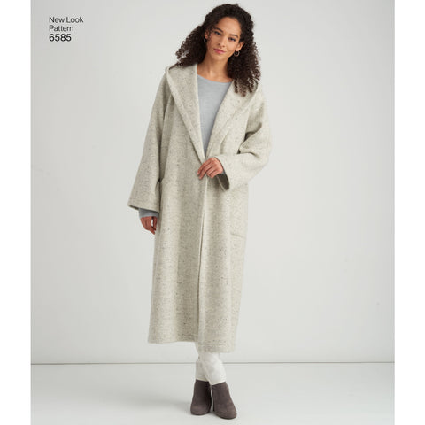 NL6585 Misses' Coat with Hood sewing pattern