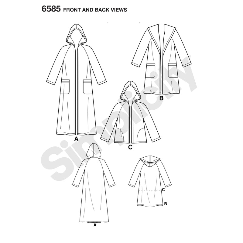 NL6585 Misses' Coat with Hood sewing pattern from Jaycotts Sewing Supplies
