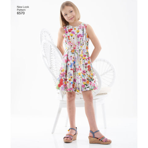 NL6570 Girl's Dress Pattern in Two Lengths