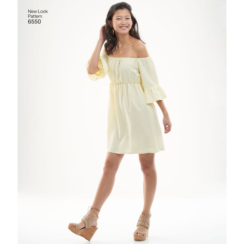 New Look 6550 sewing pattern.