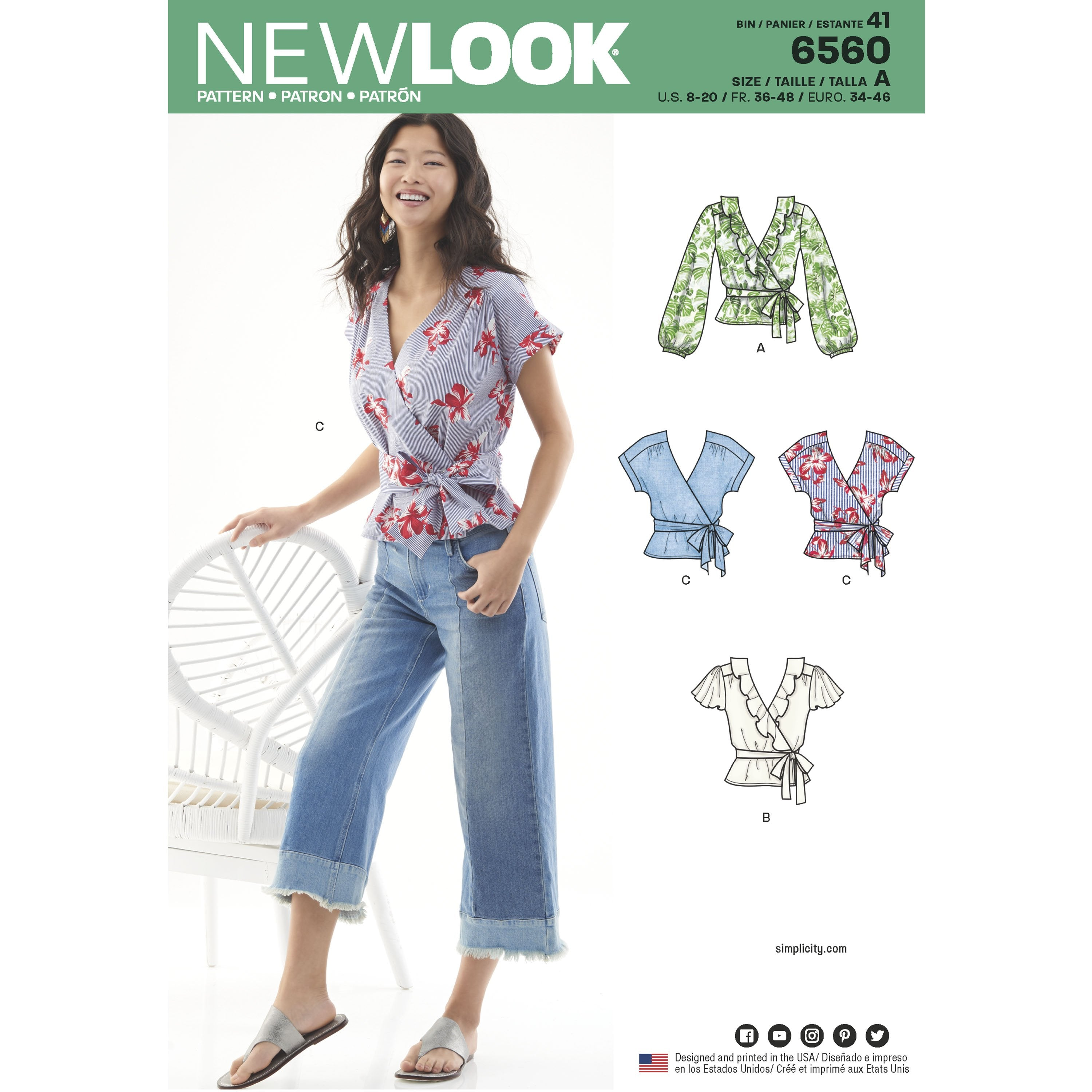 New Look 6560 sewing pattern.