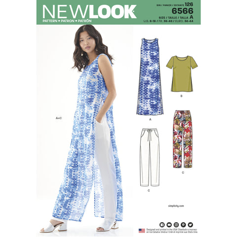 New Look 6566 sewing pattern.