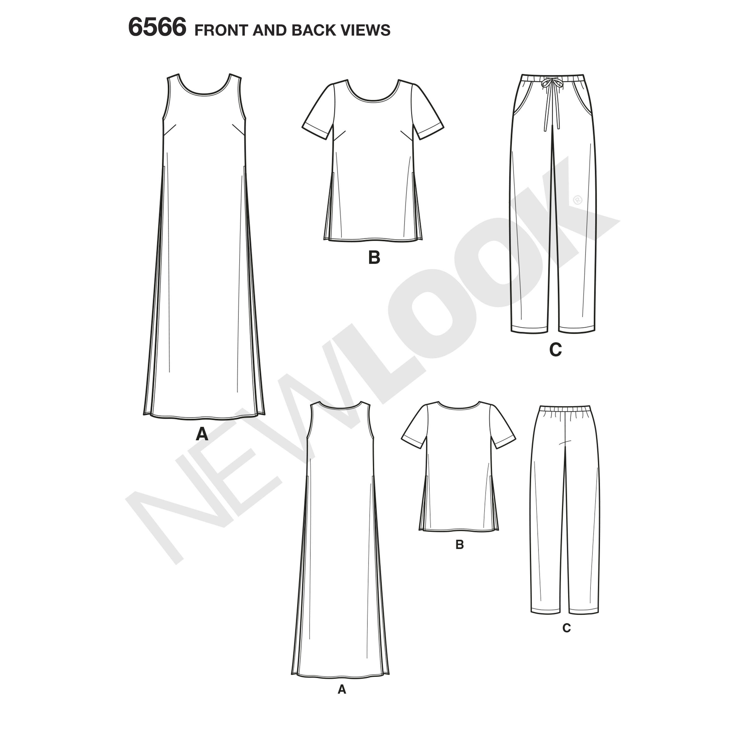 NL6566 Tunic, Top and Trousers Pattern