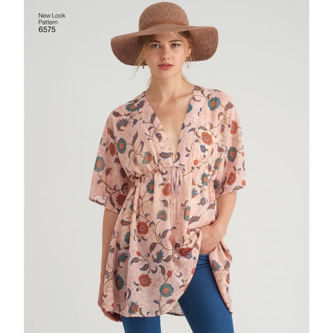 NL6575 Misses' Tunics sewing pattern