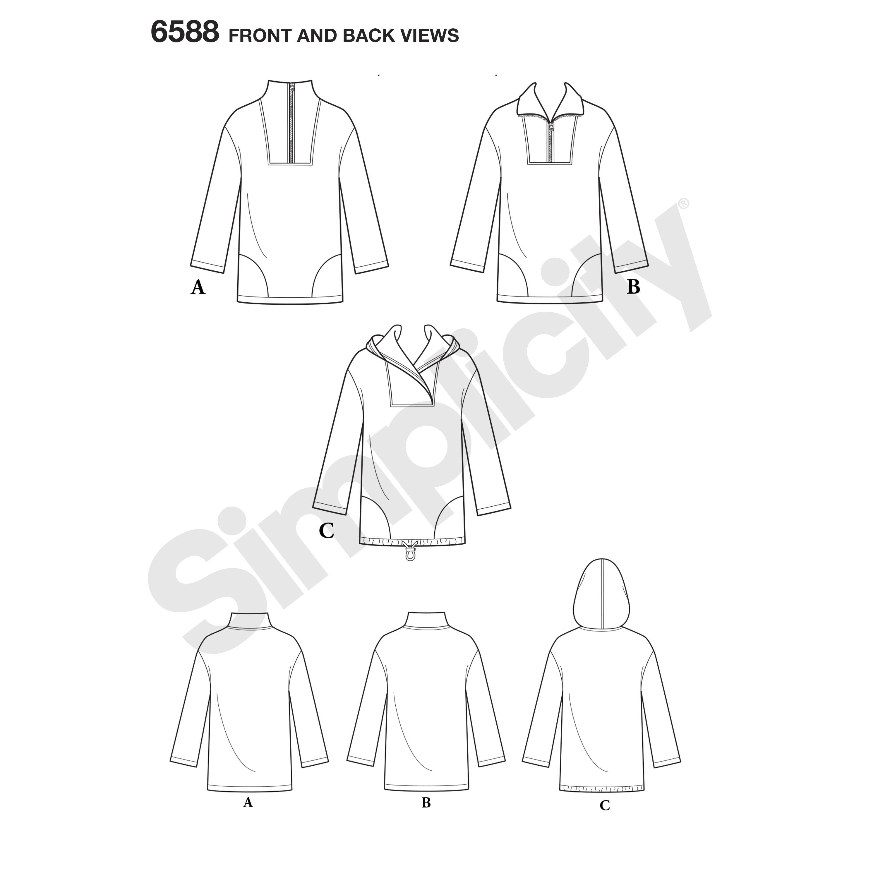 New Look 6588 sewing pattern.