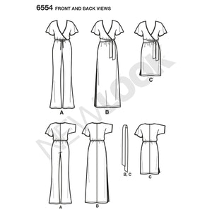 NL6554 Knit Jumpsuit and Dresses Pattern from Jaycotts Sewing Supplies