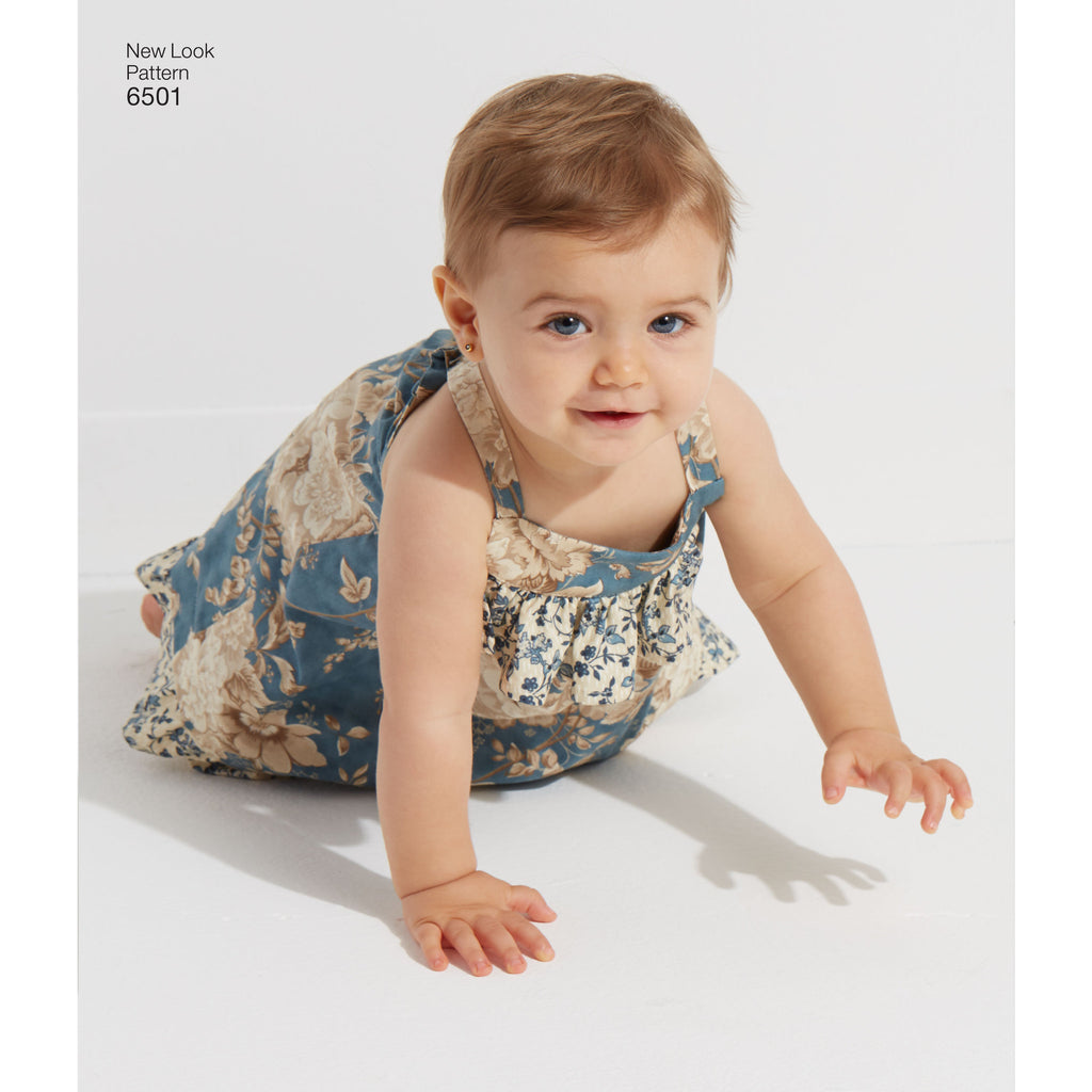 NL6501 Babies' Dress and Romper