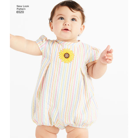 NL6520 Babies' Romper and Dress with Panties