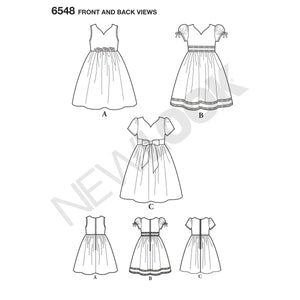 NL6548 Girl's Party Dress Sewing Pattern